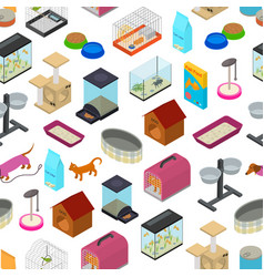 accessories for domestic pets seamless pattern vector image vector image