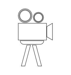 cinematograph the black color icon vector image vector image