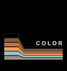 Color strokes on black page vector image vector image