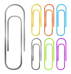 Paper clips vector image vector image