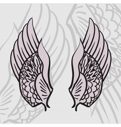 two wings vector image