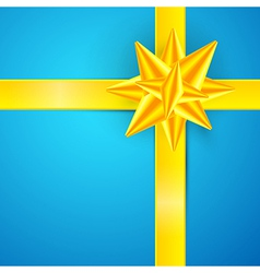 Blue Gold Abstract Merry Christmas Background vector image vector image
