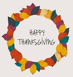 Happy thanksgiving day thanksgiving day card vector