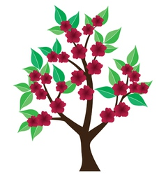 tree abstract floral vector image vector image