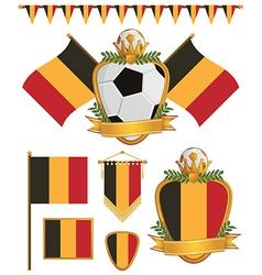 belgium flags vector image vector image