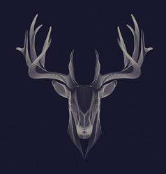 deer particle invert vector image