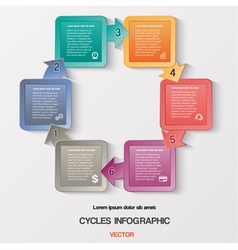 template with text areas on 6 positions vector image vector image