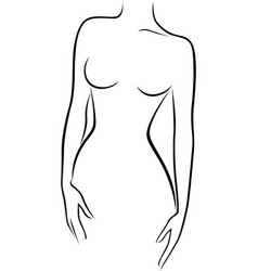 abstract graceful female figure vector image