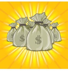 Bags of money SHOW RGB vector image vector image