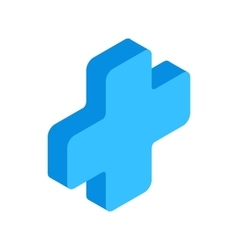 First aid isometric 3d icon vector image