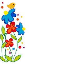 Greeting with Flower Design vector image
