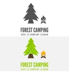 Modern camp badge logo emblem and logotype vector image