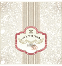 Ornate floral background Invitation to the wedding vector image