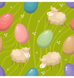 Seamless Easter background vector image vector image