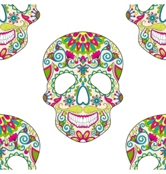 Zentangle stylized color Skull for Halloween vector image vector image