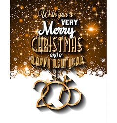 2015 New Year and Happy Christmas background vector image