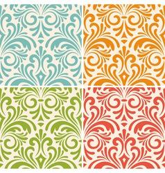 4 seamless floral vintage patterns vector