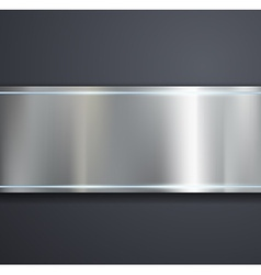 A metal plate on a gray background vector