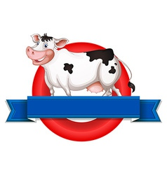 An empty label with a cow vector image vector image