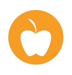 Apple round icon vector