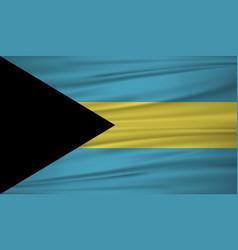 Bahamas flag bahamas flag blowig in the wind eps vector