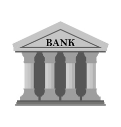 Bank icon on White Background vector image