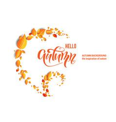 beautiful fall leaves swirl vector image