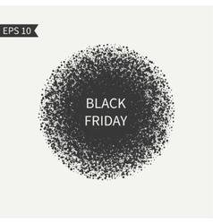 Black friday sale sign black and white design vector