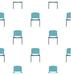 Blue office metal chair pattern flat vector