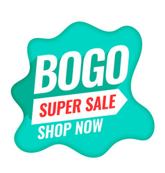 Bogo buy one get one super sale background vector