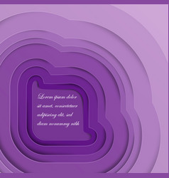 bright purple paper cutout background vector image
