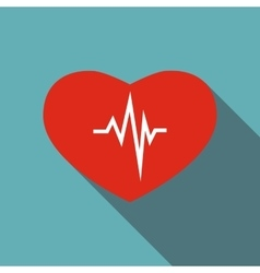 Cardiology icon flat style vector