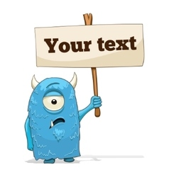 Cartoon character alien with place for text vector image