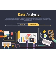 Concept business data collection analysis vector