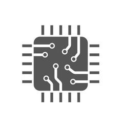 Cpu transparent icon cpu symbol design simple vector