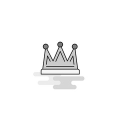 crown web icon flat line filled gray icon vector image