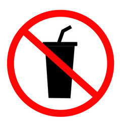 Do not drink icon on white background flat style vector