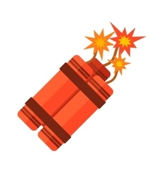 Dynamite bomb flat vector image
