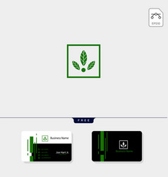 eco leaf creative logo template get free vector image