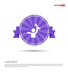 engineer icon - purple ribbon banner vector image