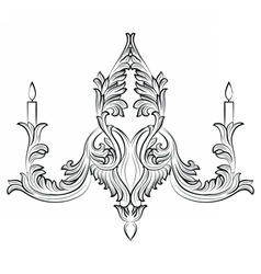 Exquisite Rich Baroque Classic chandelier vector