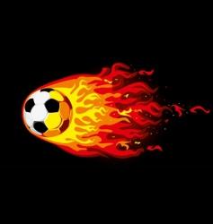Fire soccer ball vector