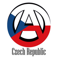 flag of czech republic of the world in the form vector image