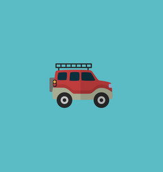 Flat icon adventure car element vector