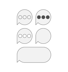 Flat Icons for mobile text Messaging vector