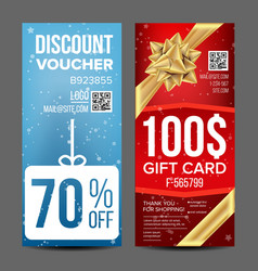 gift voucher vertical coupon shopping vector image vector image
