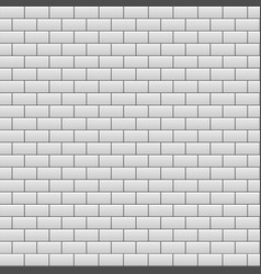 Gray brick wall background vector