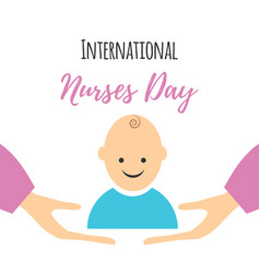 greeting card of the nurses day vector image