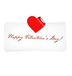 Happy Valentines Day Blank vector image