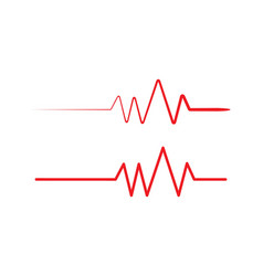health medical heartbeat pulse vector image